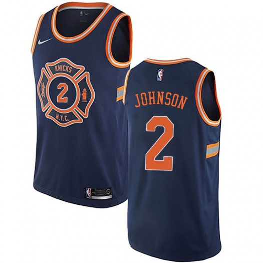 Youth Larry Johnson New York Knicks Nike Authentic Navy Blue Jersey - City Edition